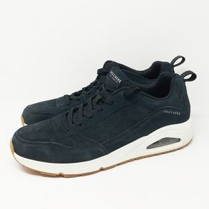 Sketchers Uno Tainers Men's Black leather sneakers